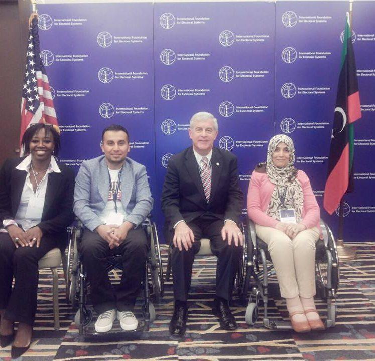 إجتماع . مع السيد بيل سويني رئيس المؤسسة الدولية للنظم الإنتخابية