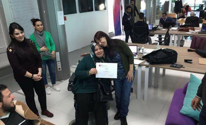 مشاركة عضو منظمة زيكم زينا  في التدريب الاعلامي